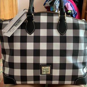Checkered Dooney and Burke satchel